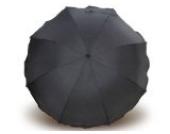 Sonnenschirm für Kinderwagen mit UV Schutz 50+ Schwarz von Heitmann Ø 80 cm