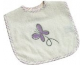 Be Be's Collection 745-26 Klett -Lätzchen 30x40cm Butterfly ecru/lila