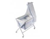 Naf-Naf 30266 Wiege und Moskitonetz Design Teddy Azul, 50% Baumwolle 50% Polyester