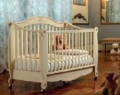 Pali italienisches Kinderbett & Stilsofa im Retro Design Rigoletta Antik Elfenbein