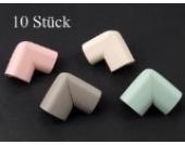 Tinxi Schaumstoff Tisch Kantenschutz Eckenschutz für Baby 10er Pack verschiedene unsortierte Farben