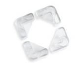 Brevi Eckenschutz, Quadrate aus Gummi