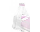 Träumeland TT12504 Himmel für Babybett Krönchen, 160 x 300 cm, rosa