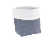 Sugarapple Utensilo Stoff Aufbewahrungsbox aus Baumwolle 19 x 13,5 x 13,5 cm, Stoffbox fürs Bad, als Wickeltisch Organizer oder Windelspender Korb, Oxford dunkelblau
