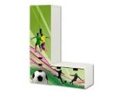 Fußball Aufkleber-Set - SL12 - passend für die Kinderzimmer Aufbewahrungskombination STUVA von IKEA (L-Form) - Bestehend aus Schrank, Kommode mit 3 Fächern und Banktruhe