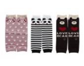3 paar Baby Socken Cotton Leggings Kinder Knieschützer Mädchen Jungen Legs