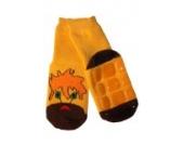 Weri Spezials Voll - ABS Socke, Loewen Motiv in Gelb, Gr.23-26 (3-4 Jahre)