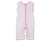 Babies & Kids - Öko-Schlafoverall Blümchen rosa Baumwollplüsch, Größe:90 cm (2-3 Jahre)