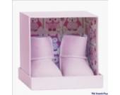 Babyboot gefüttert mit Lammfell-Imitat in haselnuss oder rosa von Pumpkin