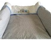 Wickelauflage Deluxe grau, passend für Trend-Welt Wickeltischaufsatz 60 x 70 cm