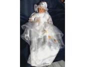 Taufkleider Taufkleid Taufe Baby Gr.44-128 Hut oder Stirnband oder Kappe