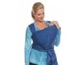Tragetuch elastisch von Be! Mama inkl. Tasche mit Klettverschluss und BINDEANLEITUNG, 5,2 m lang, 100% Baumwolle, dunkelblau