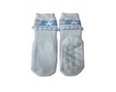 Weri Spezials Vol-Frotee Baby-ABS Soeckchen mit einer 3-D Ruesche in h.Blau, Gr.18-19 (9-12 Monate)