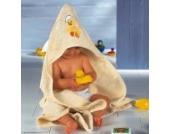 Baby Butt Kapuzenbadetuch Frottier creme Größe 100x100 cm