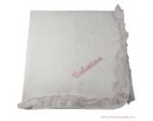 Babydecke Kuscheldecke mit Namen bestickt personalisiert - 100% Baumwolle 70x70 -Stickerei Band