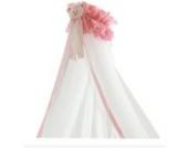 Pali Baby Betthimmel mit Halterung für Mädchen / Moskitonetz Loving Bear pink