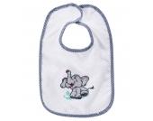 BOB Klettlätzchen, Elefanten-Stickerei, für Babys