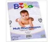 Mull-Waschlappen weiss 25x25 cm 3er Pack 100% Baumwolle Mullwaschlappen