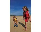 Kinder-Schwimmweste aus Neopren, Rot/Gelb, Red/Yellow, Konfidence Jacket. Größe 6-7 Jahre: 21-26 kg, Brustumfang ca. 66 cm