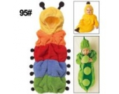 Baby Schlafsack Babyschlafsack Schlafanzug '' Bunte Raupe '' Gr. 95