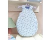 AN1-68-02 Baby-Joy Babyschlafsack Schlafsack Jersey ANNA 62/68cm Winterschlafsack BLAU