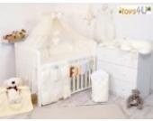 7tlg. Babybettwäsche Set, sort, 135x100cm beige