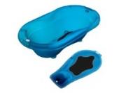Rotho Babydesign TOP Badewanne mit Badewanneneinsatz Translucent Blue