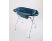 Dr. Schandelmeier 355602 Badewanne Plash, blau inklusive ständer