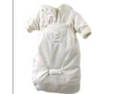 Baby Winterjacke Winter Overall mit Fußsack creme weiß 3-teilig Gr. 68 Modell 2989